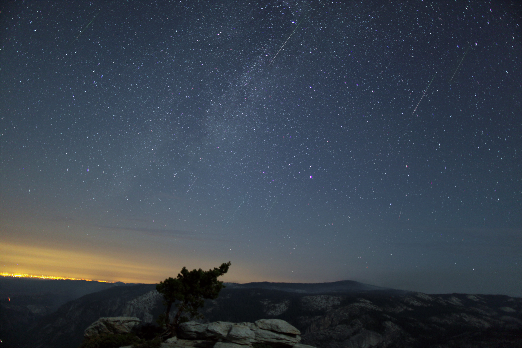 Composite Image of Perseid Meteor Shower – August 12th, 2012