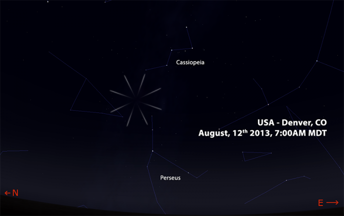 perseids 2013 US MOUNTAIN REGION