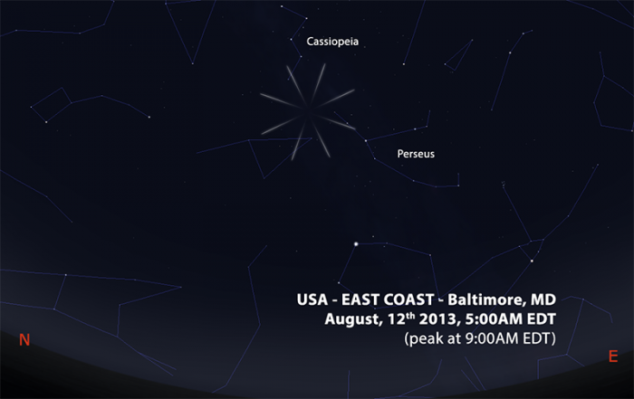 perseids 2013 US EAST COAST