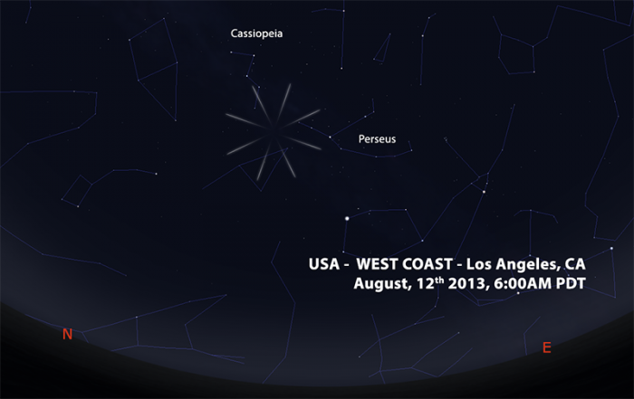 perseids 2013 US WEST COAST