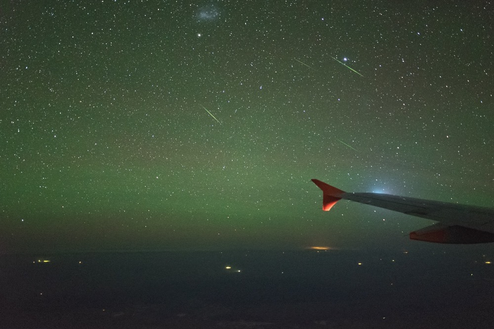 Alpha Centaurid Meteor Shower @ 40,000 ft by Colin Legg Photography