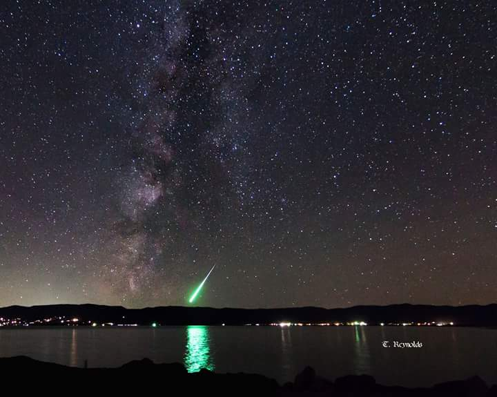 Giacobinid Fireball Over Bear Lake, Idaho
